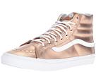 SK8-Hi Slim ((Metallic) Rose Gold/True White) Skate Shoes