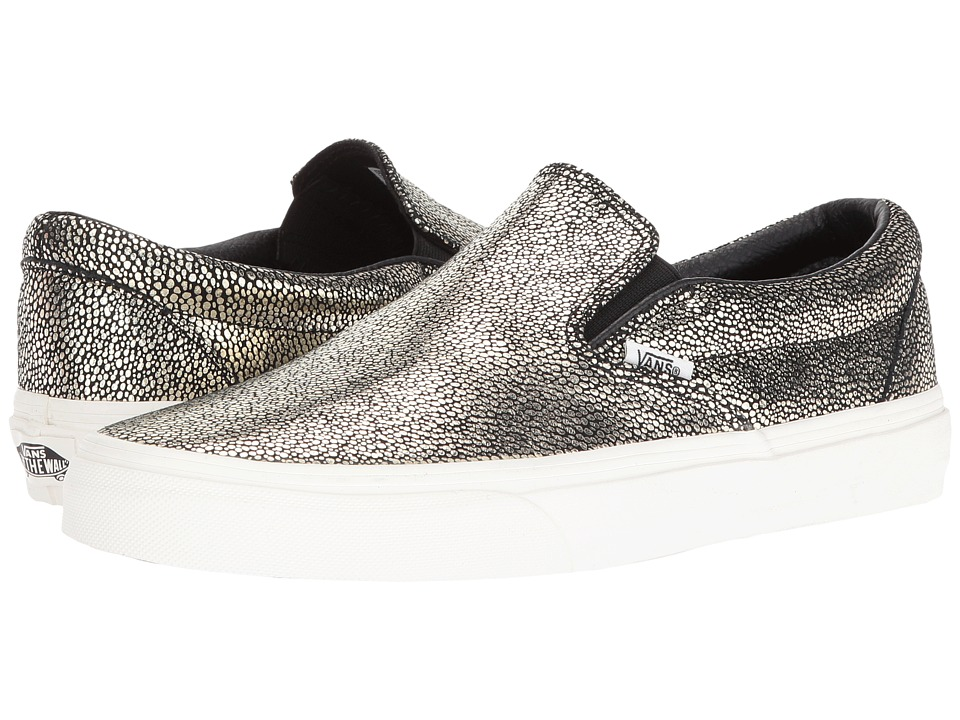 Vans Classic Slip-On ((Gold Dots) Gold/Blanc De Blanc) Skate Shoes