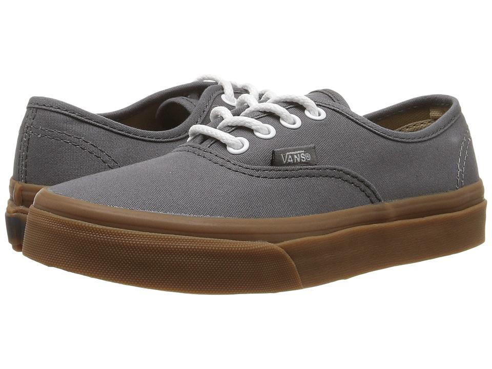 Vans Kids - Authentic (Little Kid/Big Kid) ((Gum Sole) Pewter/Light Gum) Boys Shoes