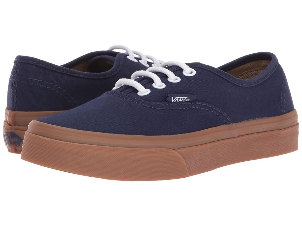 Vans Kids - Authentic (Little Kid/Big Kid) ((Gum Sole) Eclipse/Light Gum) Boys Shoes