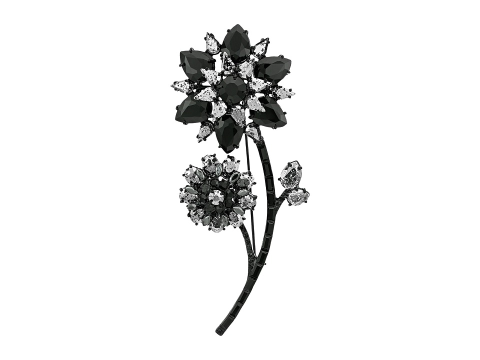 Kate Spade New York - Trellis Blooms Large Brooch (Jet Multi) Brooches Pins