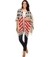 Scully - Honey Creek Patriot Flag Kabuki Fringe Sweater