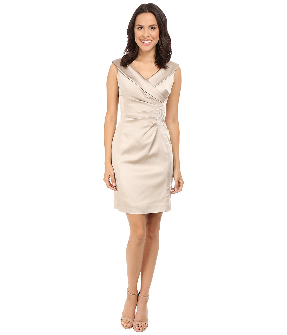 Tahari by ASL Alena Z Dress Champagne Gold Womens Dress