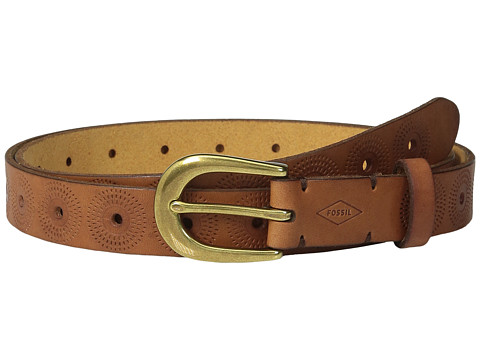 Fossil Floral Perf Emboss Belt