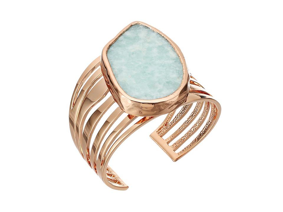 Vince Camuto - Semi Drama Cuff Bracelet (Burnt Rose Gold/Blue) Bracelet