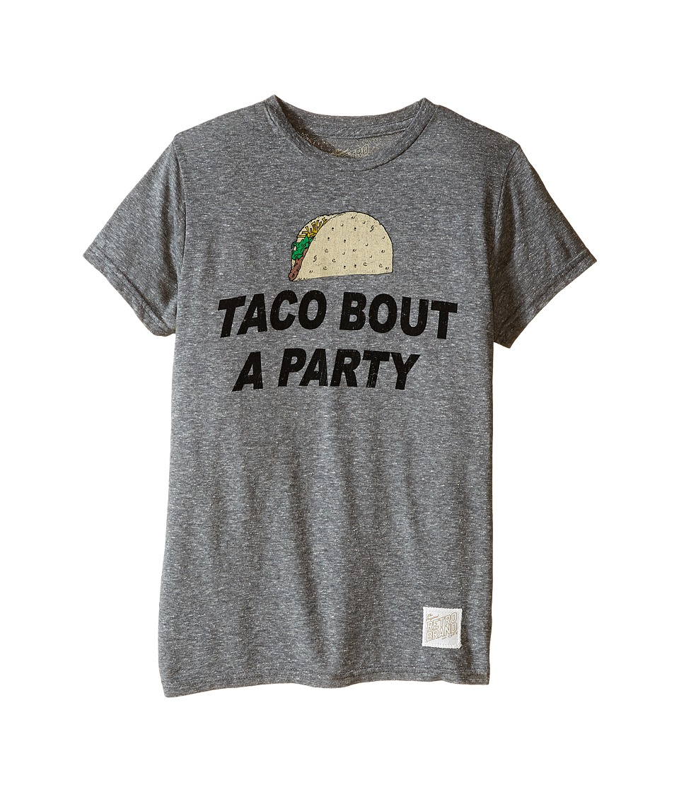 The Original Retro Brand Kids Taco Bout a Party Tri Blend Tee Little Kids/Big Kids Streaky Grey Boys T Shirt