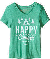 The Original Retro Brand Kids - Happy Camper Short Sleeve V-Neck Tee (Little Kids/Big Kids)