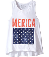 The Original Retro Brand Kids - Merica High Neck Racerback Tank Top (Little Kids/Big Kids)
