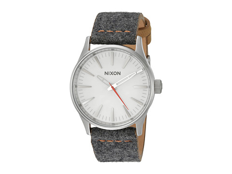 Nixon Sentry 38 Leather X Honor Roll Collection - Gray/Tan