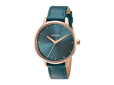 Nixon Kensington Leather X Lux Life Collection - Rose Gold/Teal