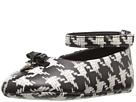 Image of Dolce & Gabbana Kids - City Houndstooth Ballerina Flat (Infant/Toddler) (Black/White) Girls Shoes