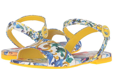 Dolce & Gabbana Kids Escape Maiolica Floral Sandal (Little Kid/Big Kid) - Print