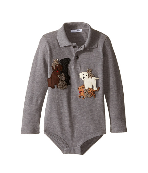 Dolce & Gabbana Kids Patch Canine One-Piece (Infant)