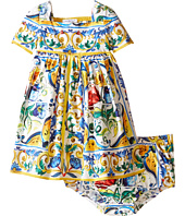 Dolce & Gabbana Kids - Escape Maiolica Ornamental Dress (Infant)
