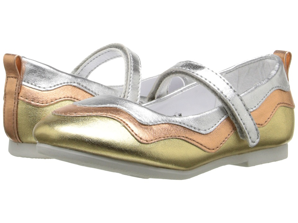 W6YZ Evelyn Toddler/Little Kid Silver/Multi Girls Shoes