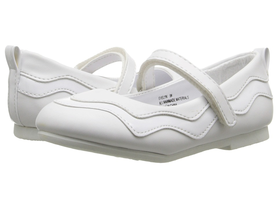 W6YZ Evelyn Toddler/Little Kid White Girls Shoes