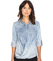 Blank NYC - Denim Drape Front Shirt in Glamper