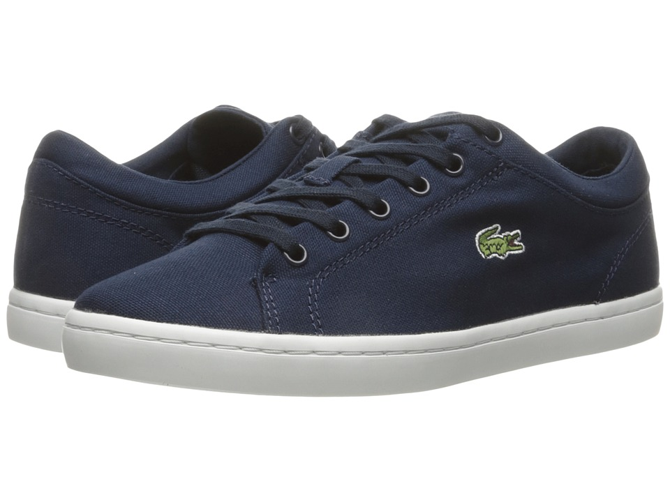 Lacoste Straightset BL 2 Canvas (Navy) Women's Shoes