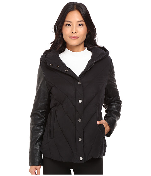 Blank NYC Puffy Jacket with Hood in Bed Fellows
