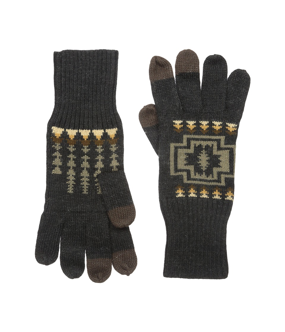 Pendleton Jacquard Knit Gloves (Harding Oxford Mix) Wool Gloves