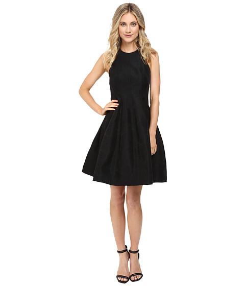 Halston Heritage Jacquard Structure Dress - Black