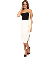 Halston Heritage - Strapless Dress with Flowy Drape
