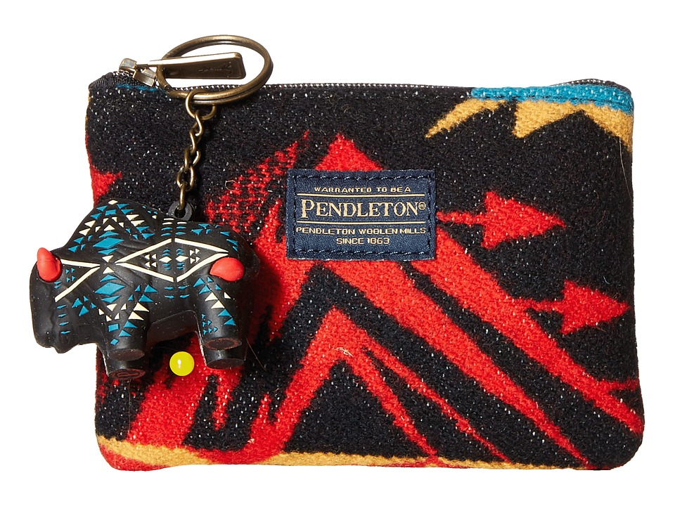 Pendleton - Zip Pouch with Keychain (Echo Peaks Black) Travel Pouch