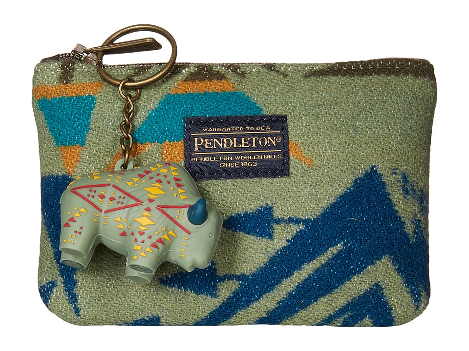 Pendleton - Zip Pouch with Keychain (Echo Peaks Sage) Travel Pouch