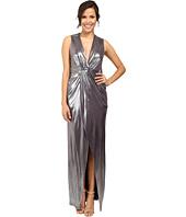 Halston Heritage - Front Twist Metallic Gown