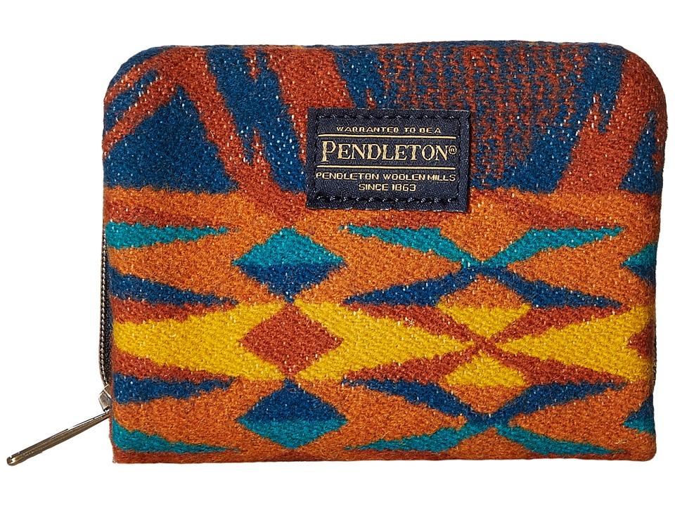 Pendleton - Mini Accordion Wallet (Echo Peaks Blue) Wallet Handbags