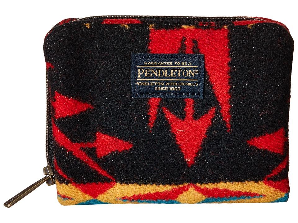 Pendleton - Mini Accordion Wallet (Echo Peaks Black) Wallet Handbags