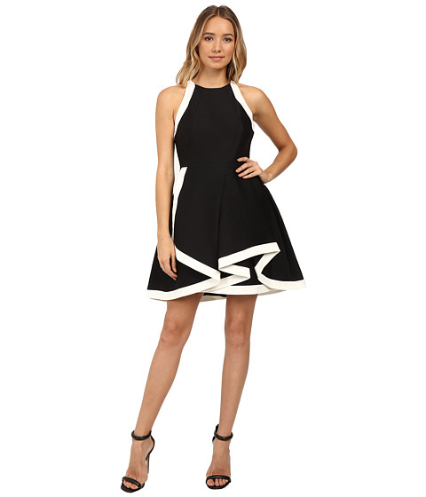 Halston Heritage Structured Dress with Tiered Skirt