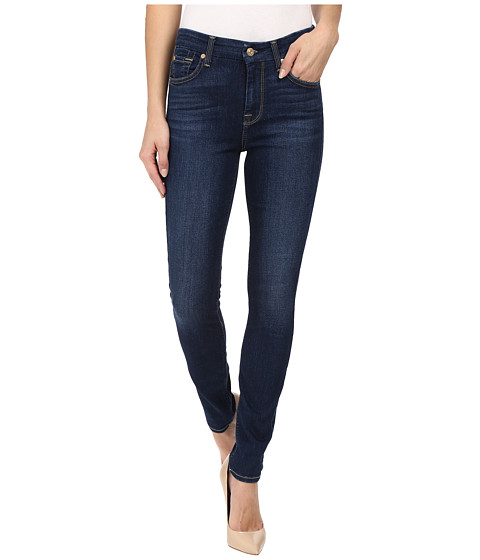 7 For All Mankind The High Waist Skinny in Buckingham Blue