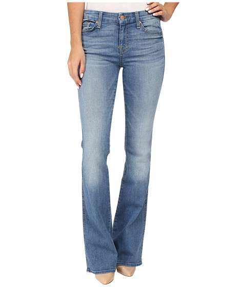 7 For All Mankind A Pocket w/ Contrast A in Light Laurel