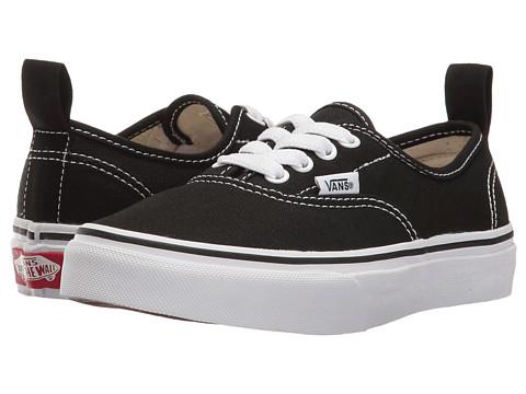 Vans Kids Authentic Elastic Lace (Little Kid/Big Kid) - (Elastic Lace) Black/True White