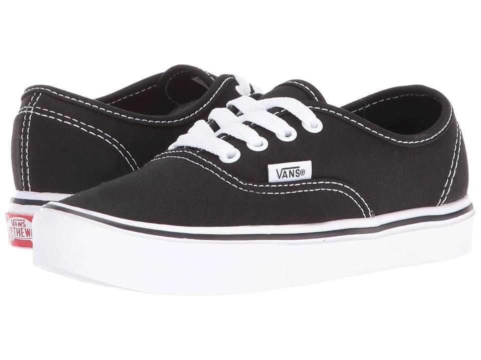Vans Kids - Authentic Lite (Little Kid/Big Kid) (Black/True White) Kids Shoes