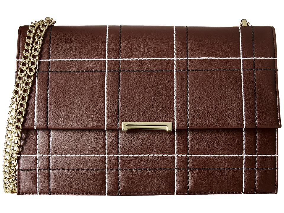 Ivanka Trump - Mara Large Flap (Garnet) Shoulder Handbags
