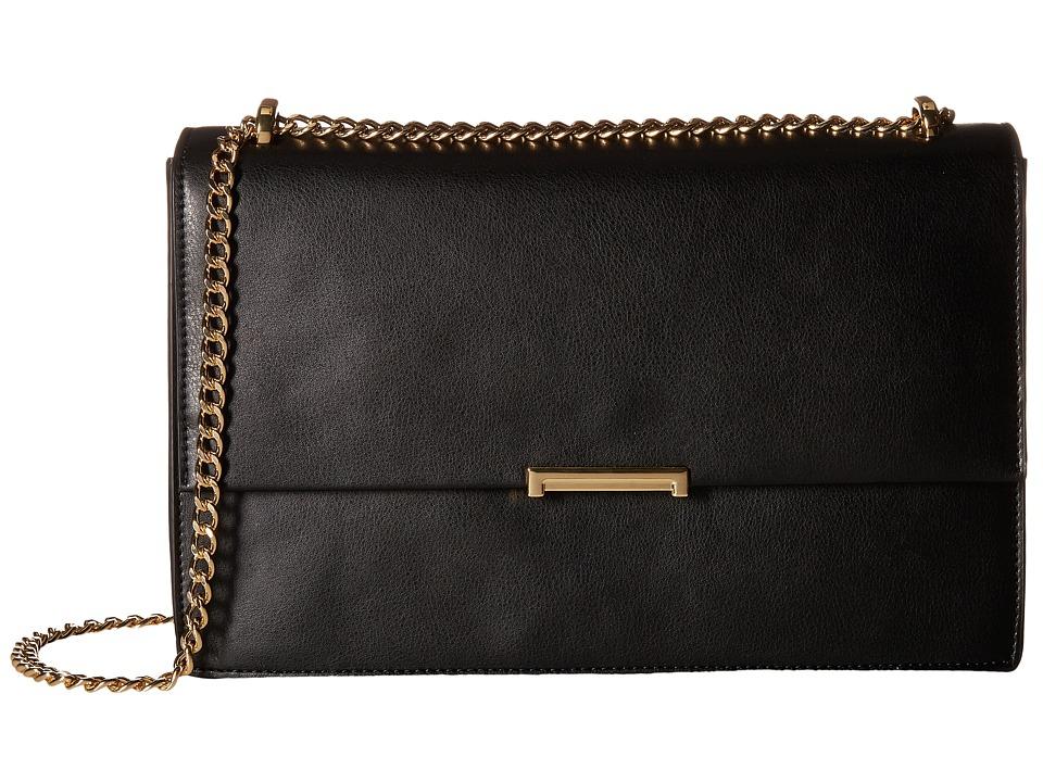 Ivanka Trump - Mara Large Flap (Black) Shoulder Handbags