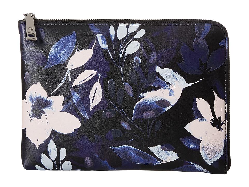 Ivanka Trump - Rio Tech Clutch with Battery Charging Pack (Black Night Garden Print) Clutch Handbags