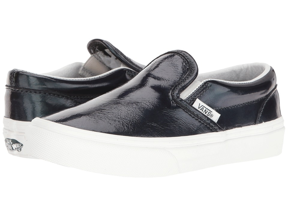 Vans Kids - Classic Slip-On (Little Kid/Big Kid) ((Hologram) Green Gables/Blanc De Blanc) Girls Shoes