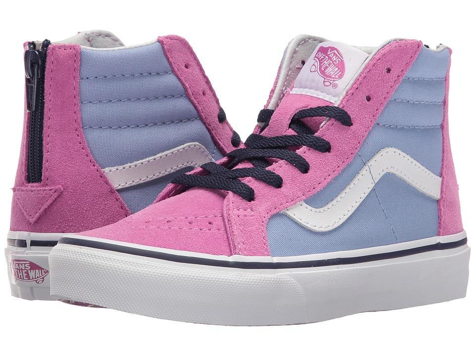 Vans Kids - Sk8-Hi Zip (Little Kid/Big Kid) ((Pop) Bel Air Blue/Rosebud) Girls Shoes