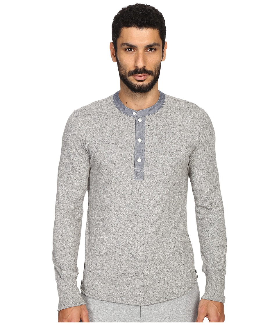 Todd Snyder Classic Chambray Henley Heather Grey Mens Clothing