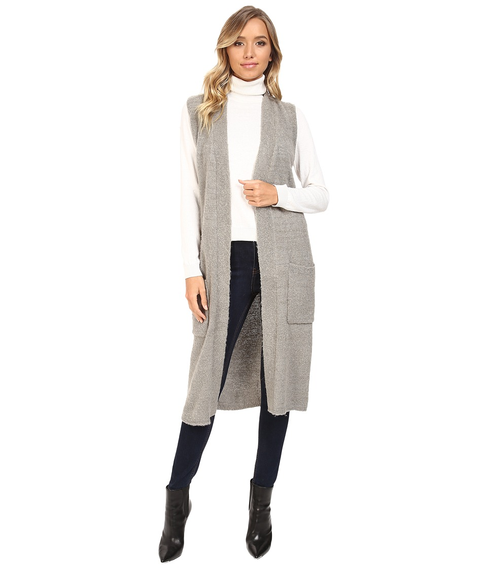Echo Design Knit Cross Over Vest (Heather Grey) Women