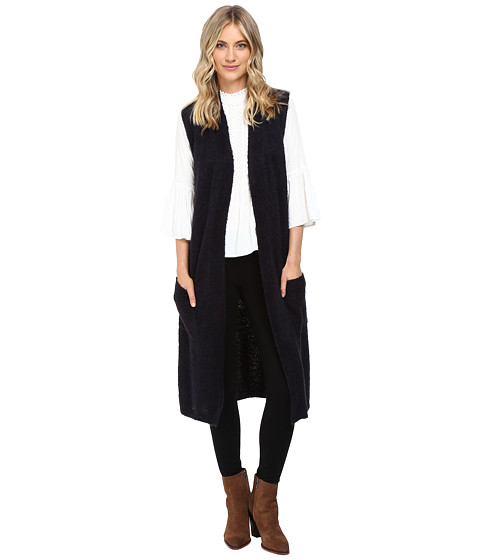Echo Design Knit Cross Over Vest - Navy