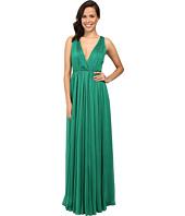 Halston Heritage - Chiffon V-Neck Gown