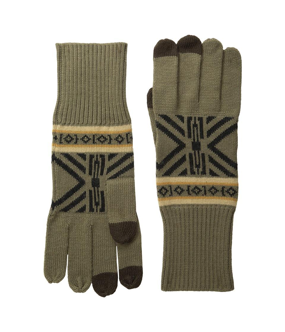 Pendleton Jacquard Knit Gloves (Westward) Wool Gloves