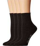 HUE - Roll Top Shortie Socks 4-Pack