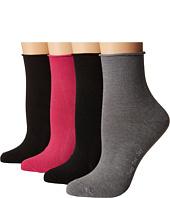 HUE - Roll Top Shortie Socks 4-Pack