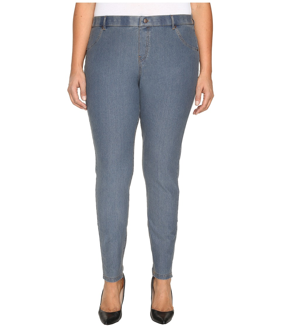 HUE Plus Size Essential Denim Leggings (Stone Acid Wash) Women