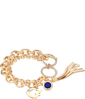GUESS - Double Chain Toggle Bracelet with Charms and Tassel